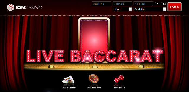 Main Baccarat di ION Casino